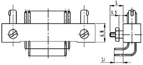 Type TD installation accessories and variations for contact tail end Connectors Product Outline Dimensions