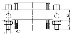 Type ZX installation accessories and variations for contact tail end Connectors Product Outline Dimensions